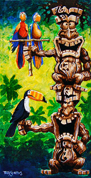 """Tikis in Parrot-Dise"""