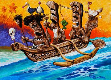 Tiki art paintings